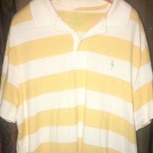 Tailorbyrd Polo Shirt Size XL Striped yellow/white